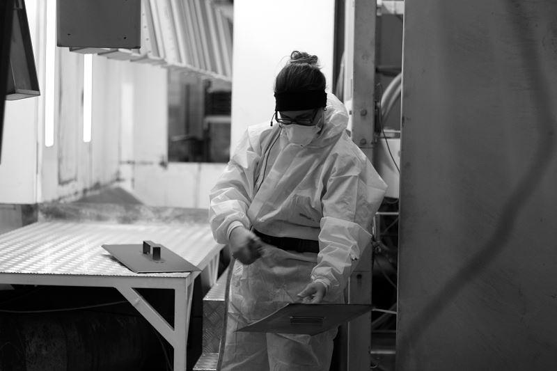 traitement d'une pièce métallique par thermolaquage