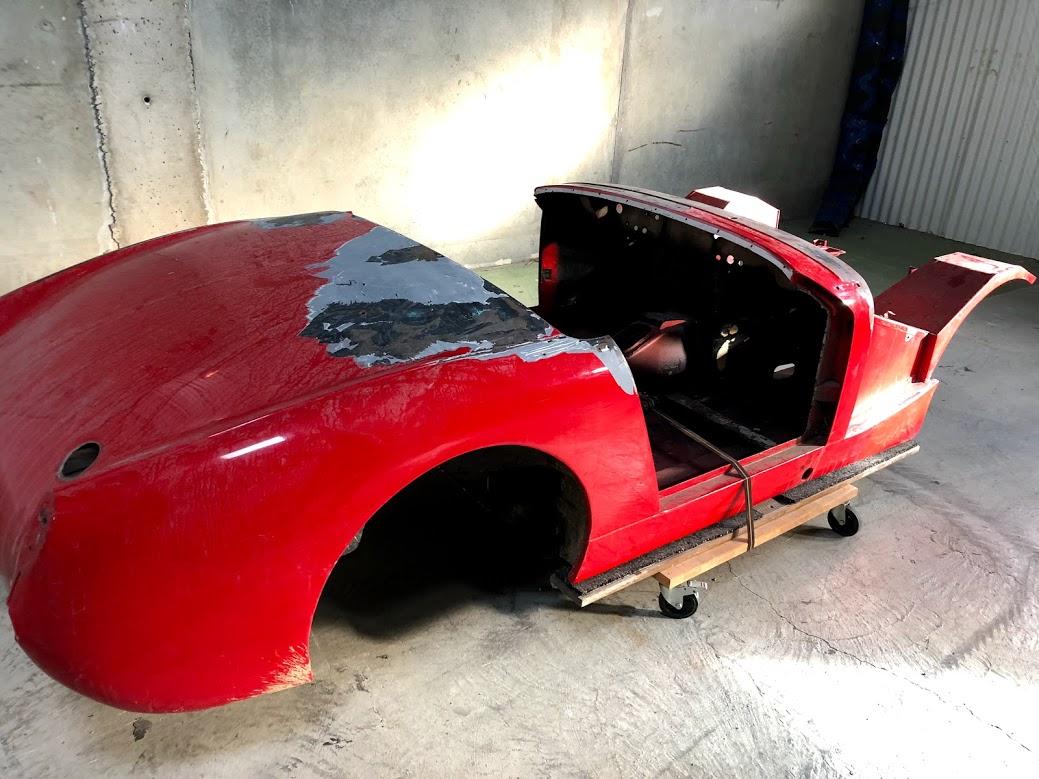 Sablage chassis voiture