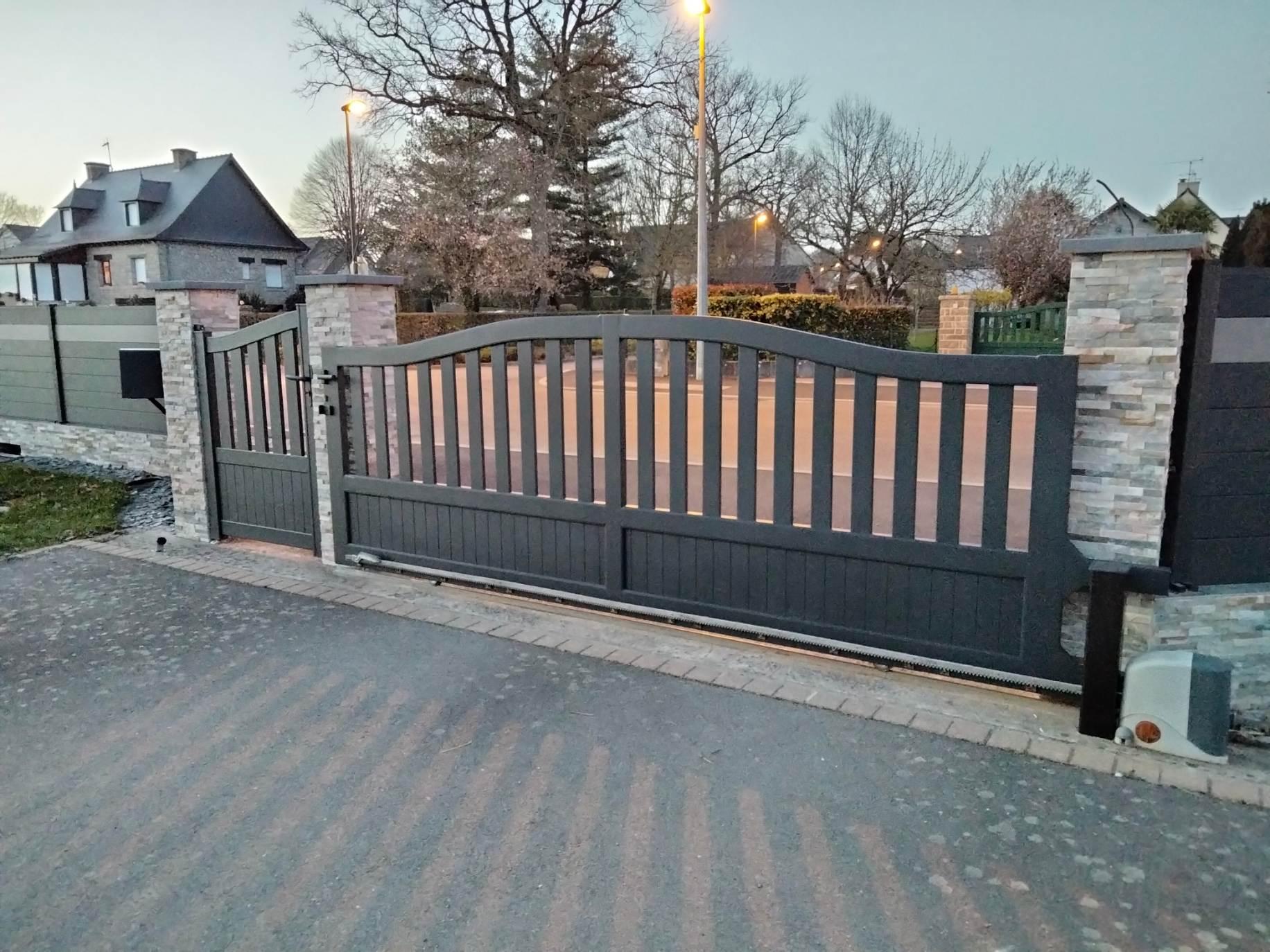 le thermolaquage du portail
