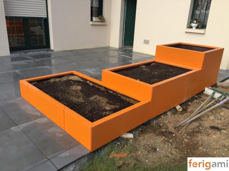 jardinieres aluminium laquées